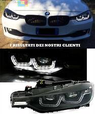 BMW SERIE 3 F30 F31 2011+ FARI ANTERIORI DIURNE LED FANALI ALOGENO H7 NERI