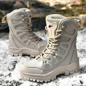 Womens Military Tactical Desert Army Boots Combat Knight Ankle Boots Work Shoes