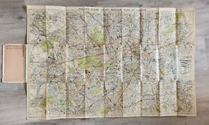 1920s Philips Cloth Clear-Print Map - London