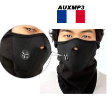 Masque Cagoule Tour Cou Anti Froid Moto Scooter Ski Néoprène Polaire noir