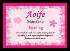 Aoife Personalised Name Meaning Placemat