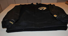 NBA Black Gold Toronto Raptors Basketball Varsity Leather Jacket Medium LE #/74