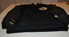 NBA Black Gold Toronto Raptors Basketball Varsity Leather Jacket Medium LE #/74