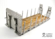 LESU 1/14 RC TAMIYA Hydraulic Flat Bed Ramp for Roll On/Off Tipper Model Metal