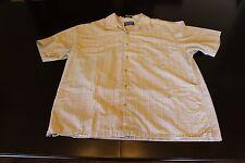 Men's Pendleton Large L Tan Plaid Short Sleeve Button Up Shirt