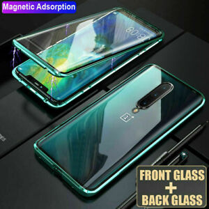 Phone Case 360° Full Magnetic Adsorption Metal Double Sides Tempered Glass Cover