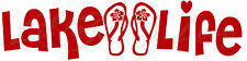Lake Life Flip Flops Vinyl Decal Sticker Party Boat For Car Auto Vehicle Summer