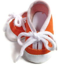 """Orange Canvas Tennis Sneaker Shoes made for 18"""" American Girl Doll Clothes"""