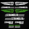 Ducati adesivo Scrambler sticker 14x moto carro armato casco sport da corsa