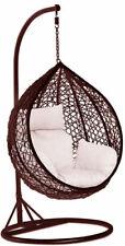 Rattan amazing outdoor Garden Hanging Egg Chair Relaxing Patio Cushions new UK