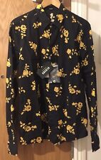 VERSUS VERSACE Rose Print Shirt - Black - UK 40/IT 50/Large