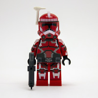 Lego Star Wars Custom Clone Shock Trooper with DC15S Blaster & Jetpack Antenna