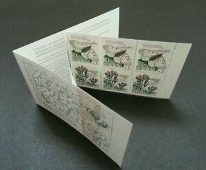 [SJ] Sweden Butterflies & Flowers 1987 Insect Flora Fauna Moth (booklet) MNH