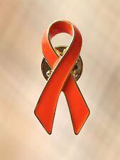 NUOVO Arancione Nastro Cancro renale la Leucemia Sensibilizzazione bavero pin spilla