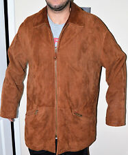 MEN'S, ARMANI, LAMPSKIN CAR COAT/FIELD JACKET,RUST/BROWN, MADE IN ITALY, SIZE 40