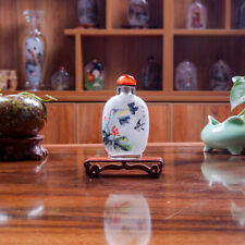 Inner Painting Snuff Bottle Chinese Antique Fanny Beautiful Lotus and Birds