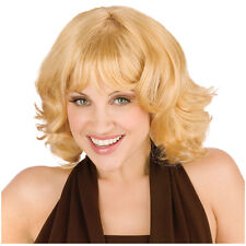 Synthetic Role play Reenactment or Crossdresser Costume Short Blonde Wig
