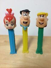 The Flintstones Fred Barney Pebbles  Pez 1990's+ Lot Of 3