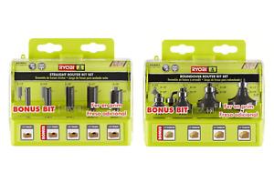 New Ryobi 9 Piece Router Bit Set Ryobi A25RS41 4 Pack And Ryobi A25RS51 5 Pack
