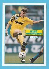 FOOTBALL - SOCCER STARS POSTCARD -  TEDDY  SHERINGHAM  OF  TOTTENHAM  -  1993