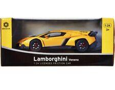 Lamborghini Veneno Yellow Gold 1:24 Licensed Friction Car Braha New