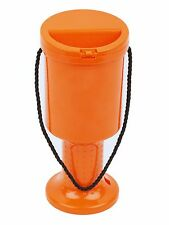 NEW! 5 Hand Held Orange Plastic Collection Boxes Donation Charity Fundraising