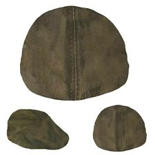 Men's Real Leather Ivy Cap Distressed Leather Gatsby Newsboy Brown Flat Cap Hat