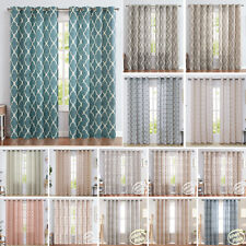 JINCHAN Windows Curtains Solid Drapes Grommets Up for Living Room Treatment 2 Pc