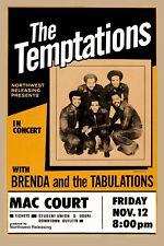 The Temptations at Mac Court Oregon Concert Poster 1971   12x18
