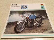 Carte moto Münch 1200 cm3 Mammouth 1971  collection Atlas Allemagne