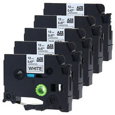 5PK Compatible for Brother TZ-231 Black on White P-Touch Label Tape TZe231 12mm