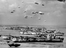 6x4 Gloss Photo ww11F2 Normandy Vehicle Landing Craft Tanks Ballons