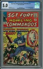 Sgt. Fury and His Howling Commandos #13 CGC 5.0 (OW-W) 1st nick fury and captain