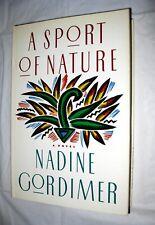 A Sport of Nature by Nadine Gordimer (1987, HC, DJ) Fiction Novel South Africa
