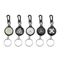 Outdoor Tactical Steel Rope Burglar Retractable Key Chain Camping Key Ring R1BO