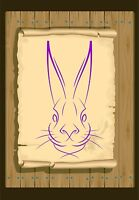 Hare Face 350 Stencil micron Mylar not thin stuff #Hare01