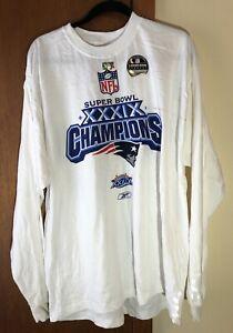 New England Patriots Super Bowl XXXIX Champions Long Sleeve Shirt Size XL Reebok