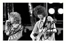 ROBERT PLANT & JIMMY PAGE AUTOGRAPHED SIGNED A4 PP POSTER PHOTO