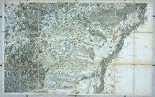 Cassini map of France original sheet 162 Strasbourg germany