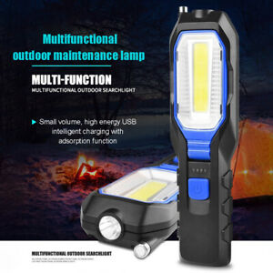 COB LED Work Light Adjustable Inspection Lamp Magnetic Hand Torch USB ONY