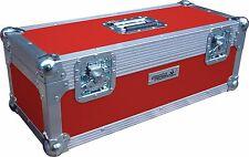 "7"" Single 300 Swan Flight Case Vinyl Record Box (Red Rigid PVC)"