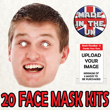 20 PERSONALISED FACE MASKS Party Stag Do Hen Night Sash FAST FANCY DRESS New
