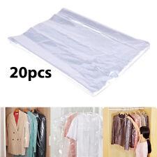 20 piezas 102cm Polietileno PRENDAS Fundas Plástico Transparente Seco Limpiador