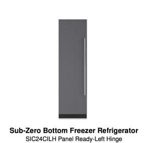 "Sub-Zero 24"" Column Refrigerator w/ ice maker IC-24CI-LH"