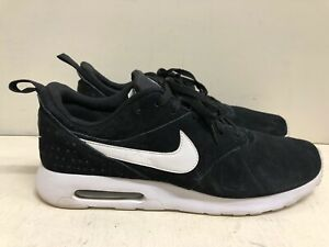 Nike Air Max Tavas Mens 802611-001 Black suede Leather Running Shoes SZ 14M