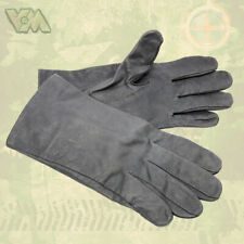 Original BW Fausthandschuhe gefüttert Lederbesatz Bundeswehr Handschuhe oliv