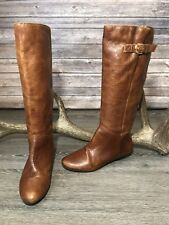 Steven By Steve Madden Intyce Boots Brown Leather Women's Sz 6.5