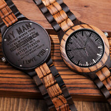 ENGRAVED WATCH WOODEN PERSONALISED BOBO BIRD BAMBOO OFFICIAL DESIGNER UNIQUE