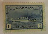 Canada SC #262  HMS COSSAK  One Dollar used stamp F-VF