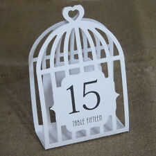 Wedding Table Numbers Bird Cage Table Numbers White (1-15) Laser Cut